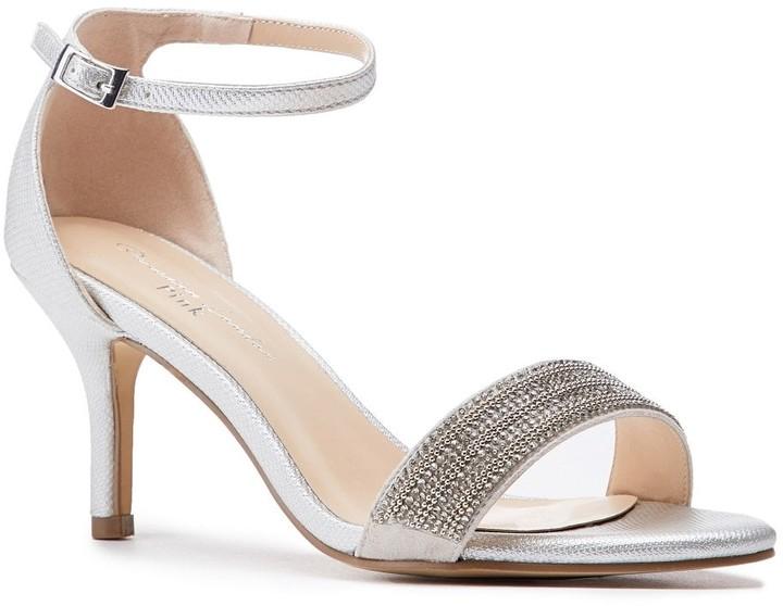 236b6cd763c Paradox London Hilma Wide Fit Silver Low Heel Sandals