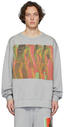 Dries Van Noten Grey Mika Ninagawa Edition Print Sweatshirt