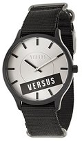 Versus By Versace Women's SO6090014 Less Aluminum and Stainless Steel Watch with Black Canvas Band