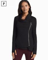 White House Black Market Petite Asymmetrical Zip-Front Black Jacket