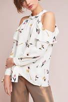 Shoshanna Floral Open-Shoulder Blouse