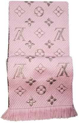 Louis Vuitton Logomania Pink Wool Scarves