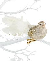 Holiday Lane Clip-On Silver Glitter Bird