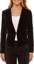 CHELSEA ROSE Chelsea Rose Long Sleeve Velvet Suit Jacket