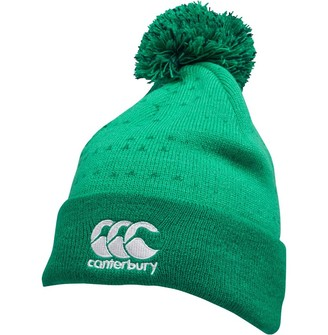 Canterbury of New Zealand Unisex Ireland Rugby Aclic Bobble Hat Bosphorus