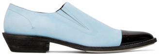 Haider Ackermann Blue Slip-On Derby Loafers