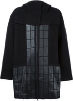 Y-3 quilted hooded coat