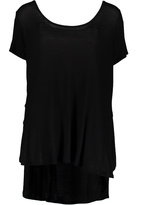 Paparazzi Black Scoop-Neck Top - Plus