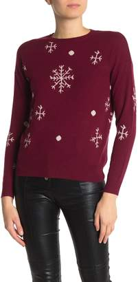 Kier & J Cashmere Snowflake Sweater