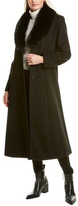 Forecaster Shawl Collar Wool-Blend Coat