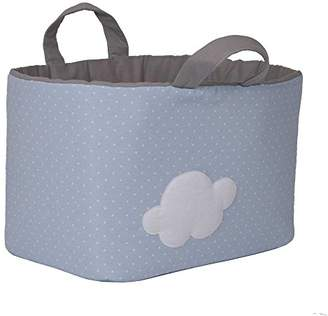Camilla And Marc Funny Baby 623212 - juguetero Padded 30 x 45 x 27 cm, Design Spots and Cloud, Blue