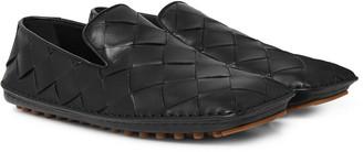 Bottega Veneta Intrecciato Leather Driving Shoes