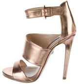Ruthie Davis Metallic Multistrap Sandals