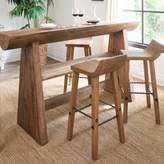 west elm Hewn Wood Bar Stool + Counter Stool