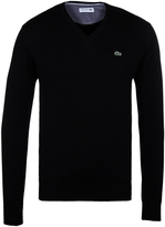 Lacoste Black V-neck Cotton Sweater