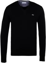 Lacoste Navy V-neck Cotton Sweater