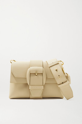 Oroton Frida Mini Leather Shoulder Bag - Beige