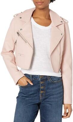 Blank NYC Women's Cropped Vegan Leather Moto Jacket