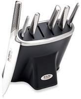 Global Zeitaku 7-Piece Professional Knife Block Set in Black