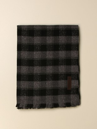 Ermenegildo Zegna Checked Wool And Silk Scarf