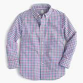 J.Crew Kids' Secret Wash shirt in tattersall