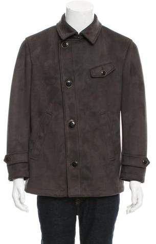 Giorgio Armani Double-Breasted Suede Jacket w/ Tags
