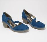 Fly London Leather Asymmetrical Strap Heeled Sandals - Wako