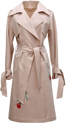 Tomcsanyi Embroidered Trench Coat Blush