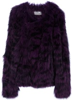 Yves Salomon Meteo By tiger print fox fur jacket