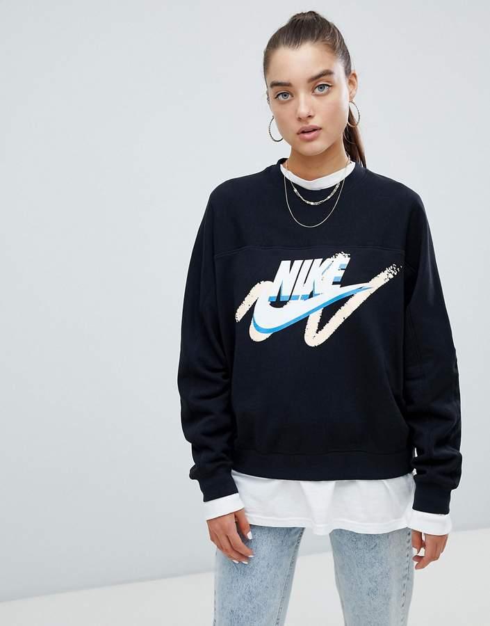 new concept 2ac61 e276d Nike Crew Neck Sweatshirts - ShopStyle UK