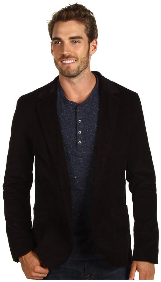Calvin Klein Jeans Sueded Velvet Blazer (Black) - Apparel