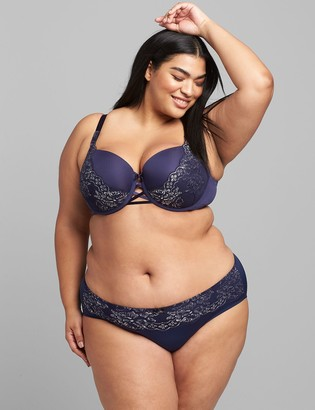 Lane Bryant Strappy-Back Hipster Panty With Metallic Lace