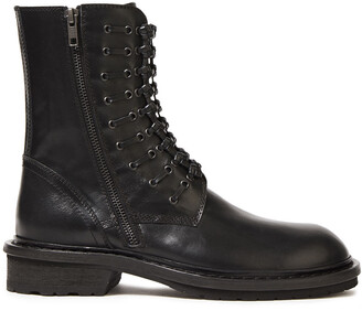 Ann Demeulemeester Knotted Leather Ankle Boots
