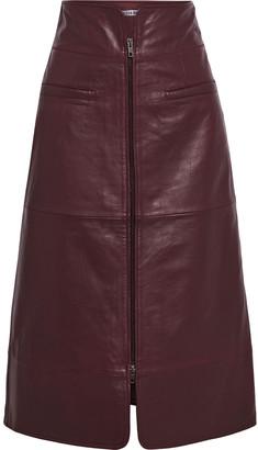 Walter Baker Jaz Leather Midi Skirt