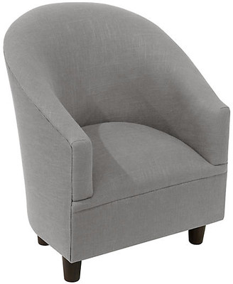 One Kings Lane Ashlee Kids' Chair - Gray - frame, espresso; upholstery, gray