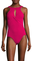Robin Piccone Ava Halter Neck Keyhole On Piece Swimsuit