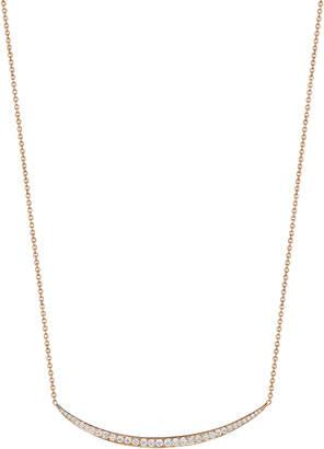 Penny Preville 18k Rose Gold Larger Single Crescent Necklace