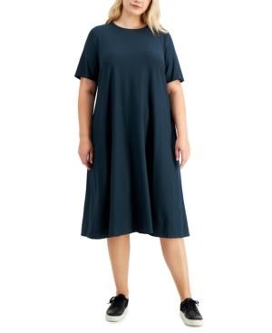 Eileen Fisher Plus Size Crewneck Dress