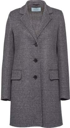 Prada Double Prince of Wales check coat