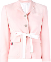 Thom Browne fitted blazer - women - Silk/Cotton/Wool - 46