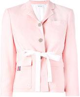Thom Browne fitted blazer - women - Silk/Cotton/Wool - 46
