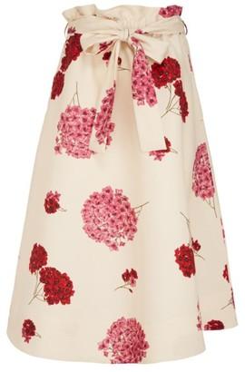 La DoubleJ Sardegna Flower Midi Skirt