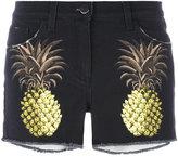 Giamba pineapple shorts - women - Cotton/Spandex/Elastane/Leather - 40