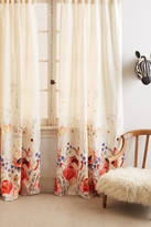 Anthropologie Michelle Morin Garden Buzz Curtain