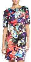 Ellen Tracy Women's Ellen Tracey Print Jersey Sheath Dress