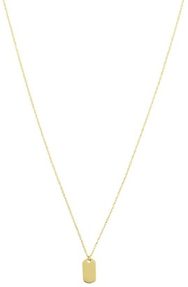 Saks Fifth Avenue So You 14K Yellow Gold Mini Dog Tag Pendant Necklace