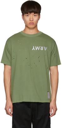 Satisfy Green Army Moth Eaten T-Shirt