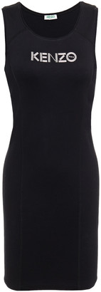 Kenzo Printed Stretch-cotton Jersey Mini Dress