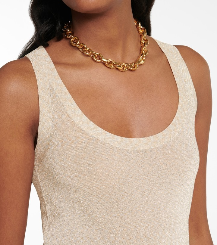 Thumbnail for your product : Missoni Metallic knit tank top