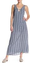Mimichica Mimi Chica Deep V-Neck Maxi Slip Dress